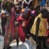 Des femmes à Ganyiel, dans l'Etat d'Unité, au Soudan du Sud, collectent de la nourriture. (archives)