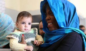 Executive Director of the United Nations World Food Programme (WFP), Ertharin Cousin, during a visit to Yemen.