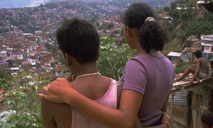 Young women in Colombia forced into sexual exploitation.