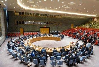 安理会会议现场。联合国图片/Rick Bajornas
