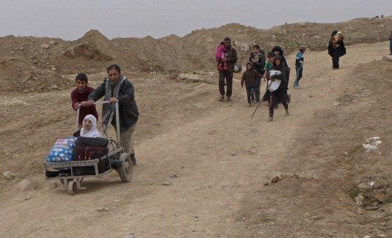 Segundo estimativas da ONU, apenas na cidade de Mossul, uma das mais afetadas, 40 mil casas foram destruídas.