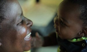 Mother and child at home in Soweto, a township outside Johannesburg, South Africa.