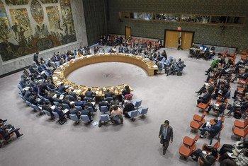 Зал заседаний Совета Безопасности ООН в Нью-Йорке