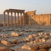 Destruction at the World Heritage site of Palmyra in Syria.