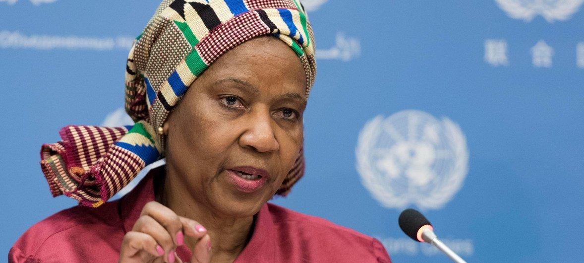 联合国妇女署执行主任姆兰博·努卡。