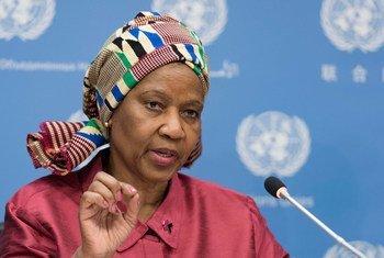 联合国妇女署执行主任姆兰博-恩格库卡。