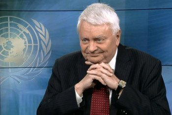 Le chef des opérations de maintien de la paix, Hervé Ladsous, lors d'un entretien avec ONU Info. Capture d'écran