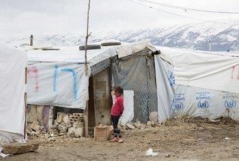 黎巴嫩的叙利亚难民营。难民署/Dalia Khamissy