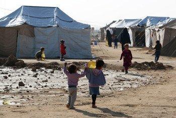 Des enfants dans un camp de déplacés près de Falloujah, en Iraq (archives). Photo PAM/Mohammed Al Bahbahani