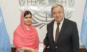 Secretary-General António Guterres designates children's rights activist and Nobel Laureate Malala Yousafzai as a UN Messenger of Peace.