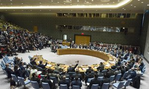 The Security Council votes on a draft resolution related to the suspected chemical attack on 4 April in the Syrian province of Idlib. The draft resolution was not adopted due to the vote against by the Russian Federation, a permanent member of the Council.