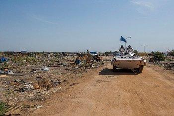 Une patrouille de l'ONU dans l'Etat du Nil Supérieur, au Soudan du Sud. (archives). Photo MINUSS