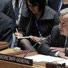 El Secretario General, António Guterres, habla en el Consejo de Seguridad. Foto de archivo: ONU/Evan Scheneider