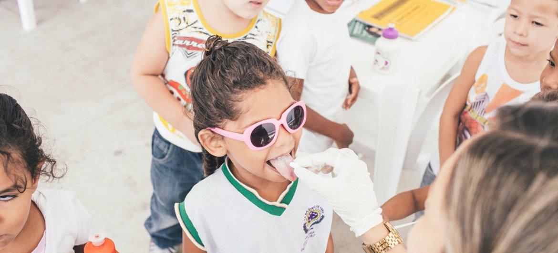 Campanha da OMS em Pernambuco, Recife, para a detenção, prevenção e eliminação da tracoma