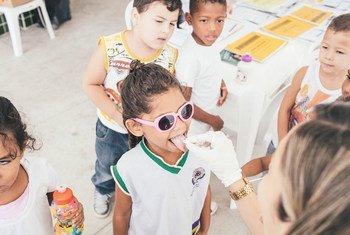 Campanha da OMS em Pernambuco, Recife, para a detenção, prevenção e eliminação da hanseníase