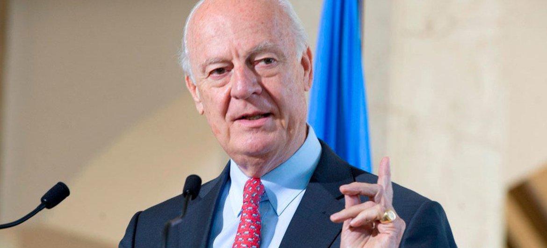 L'Envoyé spécial des Nations Unies pour la Syrie, Staffan de Mistura. Photo ONU