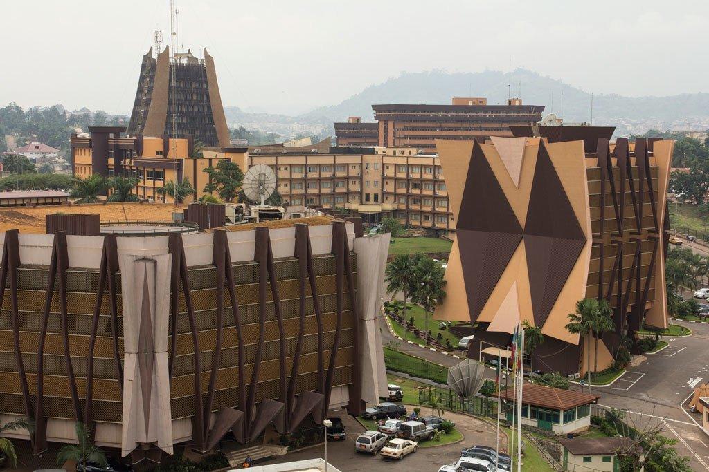 Bâtiments gouvernementaux à Yaoundé, la capitale du Cameroun.