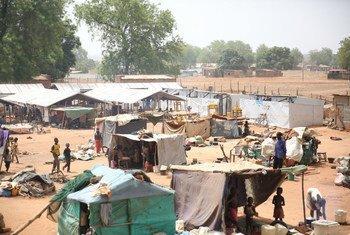 بعد أن أدت المناوشات الأخيرة إلى نزوح الآلاف، يسعى الكثيرون من المدنيين إلى طلب الحماية في مواقع مختلفة في واو بجنوب السودان.
