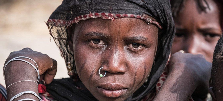 Une jeune fille déplacée avec sa famille de son village au Tchad par le groupe Boko Haram (archives). Photo UNICEF/Sokhin