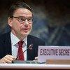 Christian Friis Bach, Secrétaire exécutif de la Commission économique des Nations Unies pour l'Europe, lors d'une réunion du Comité des transports intérieurs de la Commission à Genève, en Suisse.