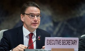 Christian Friis Bach, Executive Secretary of the UN Economic Commission for Europe, pictured during a meeting of the UNECE Inland Transport Committee in Geneva, Switzerland.