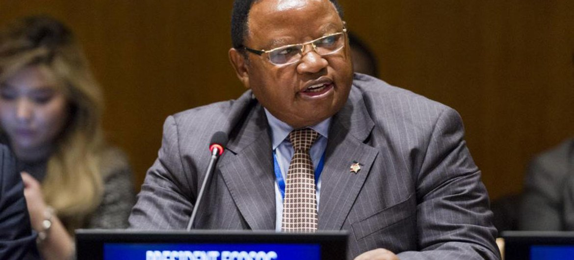 President of the Economic and Social Council (ECOSOC) Frederick Musiiwa Makamure Shava.