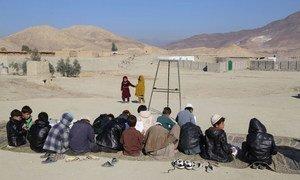Samar Khel camp, near Jalalabad, where Afghans displaced by war have taken shelter