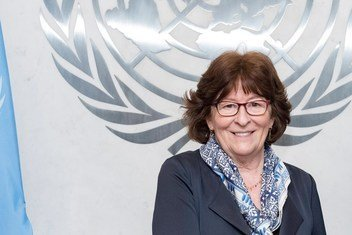अंतरराष्ट्रीय प्रवासन मामलों पर महासचिव की विशेष प्रतिनिधि - लुई आर्बर. UN Photo/Mark Garten