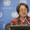 Victoria Tauli-Corpuz, relatora especial de la ONU sobre los derechos de los pueblos indígenas. Foto: ONU/Eskinder Debebe