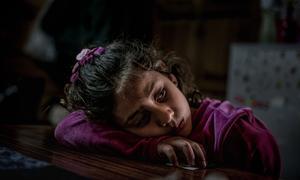 Восьмилетняя девочка из Сирии  в Греции