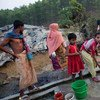 Rohingya refugees, displaced by violence in Myanmar, at a camp in Coxs Bazar, Bangladesh. (File)