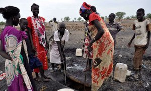 Access to safe water is vital for thousands of civilians sheltering in and around Aburoc, South Sudan.