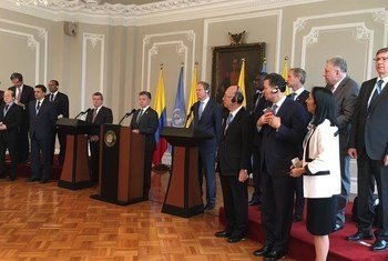 أعضاء مجلس الأمن ورئيس كولومبيا