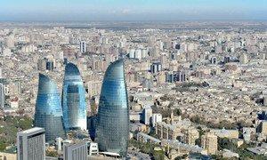 View of Baku, Azerbaijan.