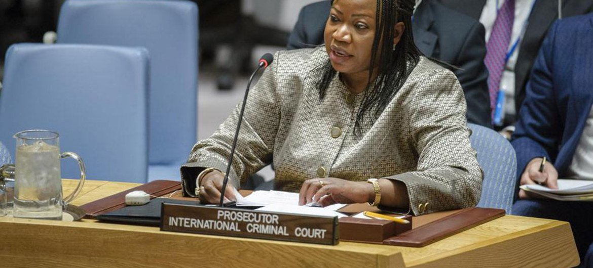 International Criminal Court (ICC) Prosecutor Fatou Bensouda briefs the Security Council on the situation in Libya.