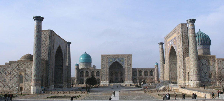 Площадь Регистан в Самарканде - «визитная карточка» Узбекистана