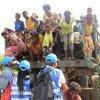 Refugiados congoleses na província de Lunda Norte, em Angola.