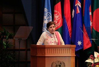 Shamshad Akhtar, the Executive Secretary of ESCAP, delivering her policy statement at the 71st session of the Commission.
