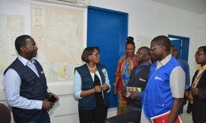 WHO Regional Director for Africa, Dr. Matshidiso Moeti (second left) visits Kinshasa, the capital of the Democratic Republic of the Congo (DRC), to discuss ways to mount a rapid, effective and coherent response in order to stop the ongoing Ebola outbreak.