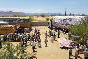 联合国难民署在也门分发救济物品。难民署/Adem Shaqiri