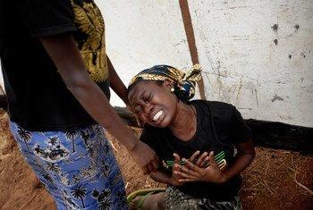 蒙受暴力之害的中非共和国妇女。儿基会图片/Jan Grarup (资料)