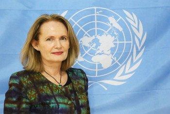 Diane Corner, Représentante spéciale adjointe du Secrétaire général et Chef adjointe de la Mission multidimensionnelle de stabilisation des Nations Unies en République centrafricaine (MINUSCA). Photo MINUSCA