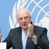 Спецпосланник ООН по Сирии Стаффан де Мистура еще не решил, поедет ли в Сочи. Фото ООН/Волейн Мартин