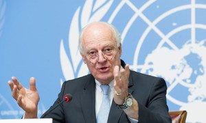 L'Envoyé spécial pour la Syrie, Staffan de Mistura. Photo ONU/Violaine Martin