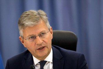 Le Secrétaire général adjoint aux opérations de maintien de la paix, Jean-Pierre Lacroix.