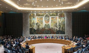 A wide view of the Security Council ministerial-level meeting on the nuclear weapon and ballistic missile programmes of the Democratic People's Republic of Korea (DPRK).