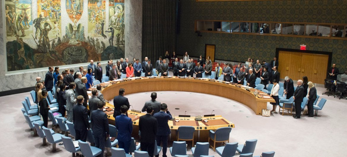 The Security Council observes a moment of silence for the victims of the 22 May terrorist attack in Manchester, United Kingdom.