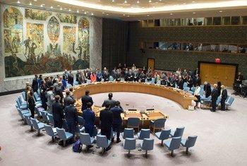 Le Conseil de sécurité observe un moment de silence pour les victimes de l'attaque terroriste du 22 mai à Manchester (Royaume-Uni). Photo ONU/Eskinder Debebe