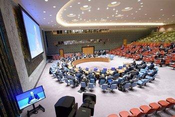 ديفيد شيرر، الممثل الخاص للأمين العام ورئيس بعثة الأمم المتحدة في جنوب السودان يقدم إحاطة إلى المجلس الأمن عبر دائرة مغلقة.