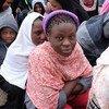 利比亚被拘留的移民。